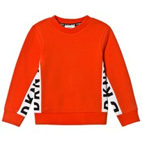 DKNY Orange Side Branded Sweater 412