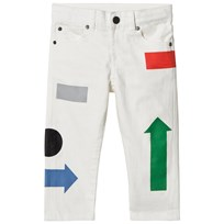 Stella McCartney Kids White Arrow Print Lohan Jeans 9082