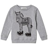Stella McCartney Kids Biz Donkey Print Sweatshirt Grey 1461