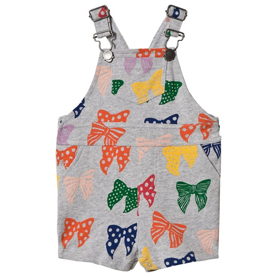 Stella McCartney Kids Grey Bow Print Pookie Overalls 1764