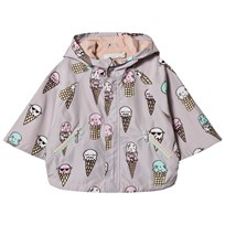 Stella McCartney Kids Grey Ice Cream Froggie Water Repellent Cape 5355