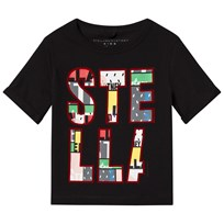 Stella McCartney Kids Black Lolly Heart Shells T-Shirt 1073