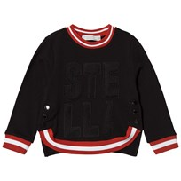 Stella McCartney Kids Black Stella Mesh Sweatshirt 1073