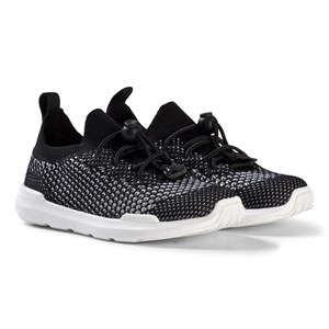 Image of AKID Black and White Sutherland Knit Sneakers US 12 (UK 11, EU 30) (2962705073)