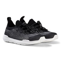 AKID Black and White Mesh Knit Trainers BLACK AND WHITE KNIT
