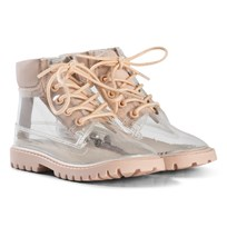 AKID Clear and Nude Boots Nude Clear