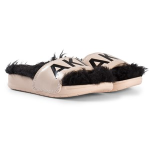 Bilde av Akid Nude And Black Branded Aston Sliders Us M 7-9 (uk 6-8, Eu23-25)