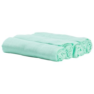 Image of Borås Cotton Aida Muslin Cloths 5-Pack Green (3125337457)
