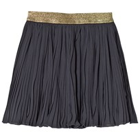 Minymo Pleated Navy Skirt Black