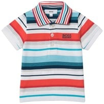 BOSS Multi Colur Stripe Pique Polo Z41