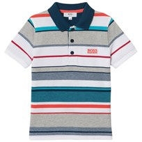 BOSS Multi Stripe Branded Pique Polo Z41