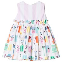 Fendi White Ice Lolly Monster and Stripe Party Dress F0VU8