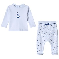 Absorba Pale Blue Lighthouse Print Tee and Bottoms Set 41