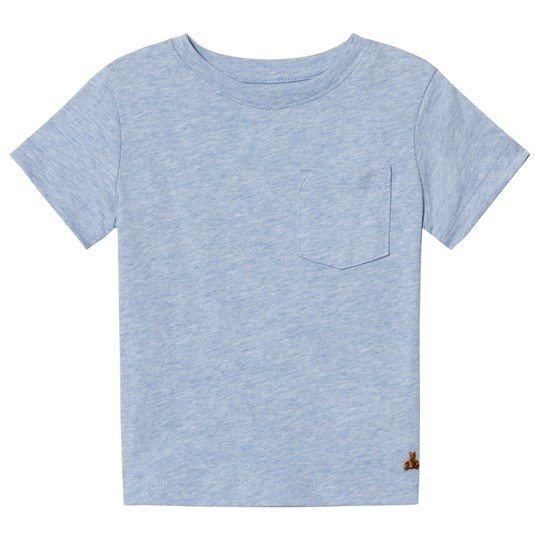 GAP Short Sleeve Pocket Tee Blue Heather B0812 BLUE HEATHER