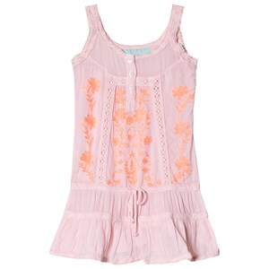Image of Melissa Odabash Pink and Coral Embroidered Jaz Beach Dress 2 years (2962706187)