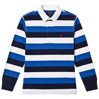 Ralph Lauren Blue, Navy and White Stripe Rugby 003