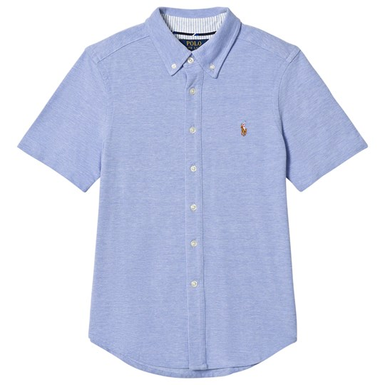 Ralph Lauren Blue Stretch Oxford Mesh Shirt 003