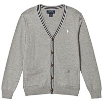 Ralph Lauren Grey and Navy Cotton Cardigan with Small Pony 002