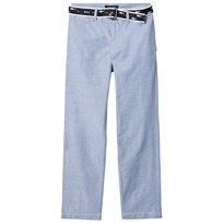 Ralph Lauren Blue Oxford Trousers with Belt 001