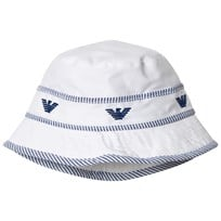 Armani Junior White Logo Sun Hat 00010