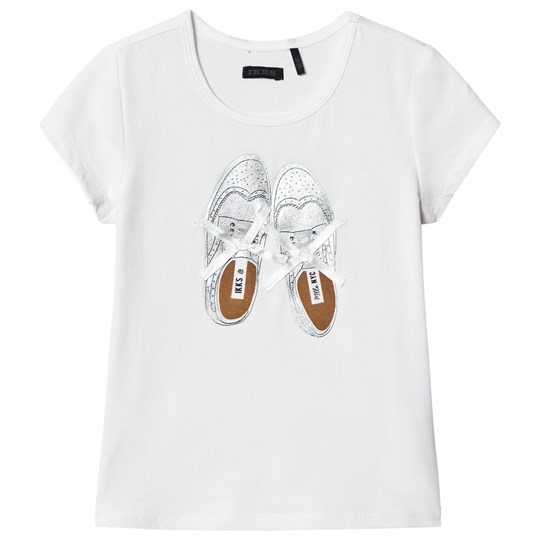 IKKS White Shoes Print and Ribbon Laces Tee 19
