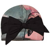 Papu Bow Beanie Bird Painting Multicolor
