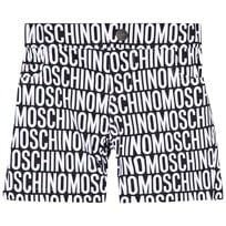 Moschino Kid-Teen All Over Print Five Pocket Shorts Svart/Vit 83190