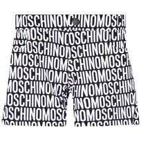 Moschino Kid-Teen Black and White All Over Print 5 Pocket Shorts 83190