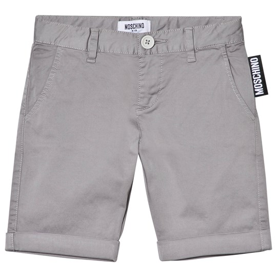 Moschino Kid-Teen Grey Branded Label Shorts 60044