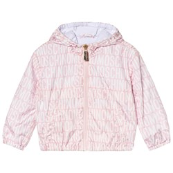 Moschino Kid-Teen Pink All Over Branded and Bear Print Winkbreaker