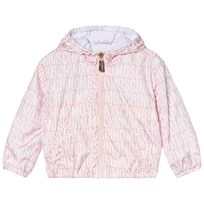 Moschino Kid-Teen All Over Branded and Bear Print Vindjacka Rosa 83193