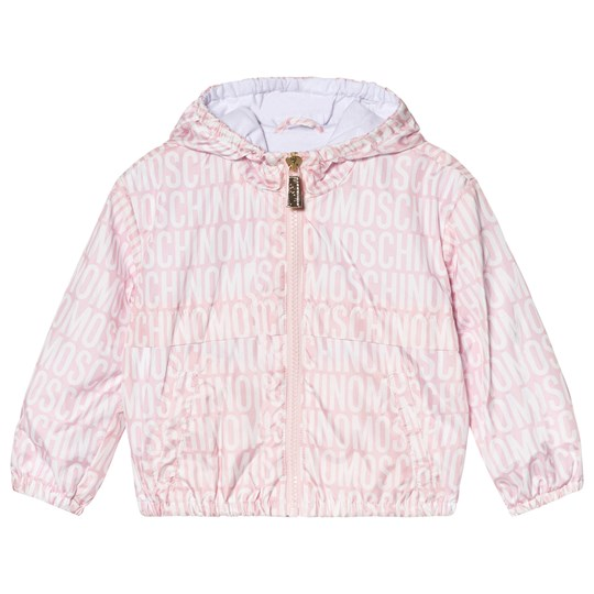 Moschino Kid-Teen Pink All Over Branded and Bear Print Winkbreaker 83193