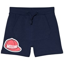 Moschino Kid-Teen Baseball Cap Logo Shorts Marinblå 40016