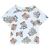 Moschino Kid-Teen Bear Sport All Over Print T-shirt Ljusblå 83203