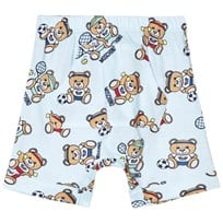Moschino Kid-Teen Bear Sport All Over Print Jersey Shorts Ljusblå 83203