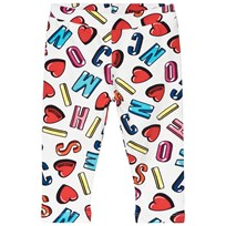 Moschino Kid-Teen All Over Branded Leggings Vit 83211