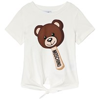 Moschino Kid-Teen Bear Lolly Tie T-shirt Vit 10063
