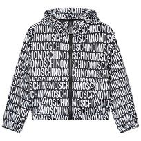 Moschino Kid-Teen All Over Branded and Bear Print Vindjacka Svart 83190