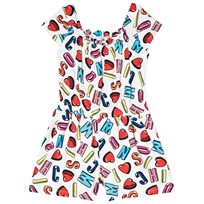 Moschino Kid-Teen All Over Heart and Logo Romper Vit 83211