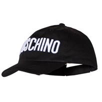 Moschino Kid-Teen Black Embroidered Branded Cap 60100