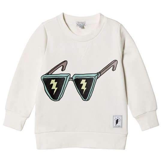 Civiliants Flash Glasses Print Sweater Off White White