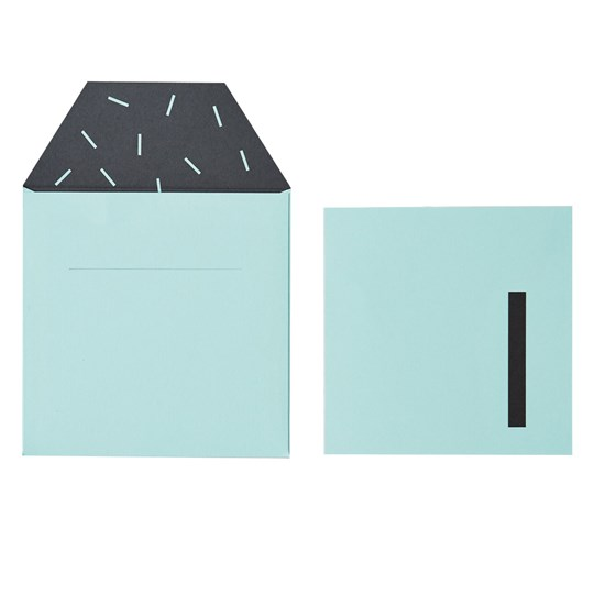 Design Letters Birthday Card - 1 - Green Green
