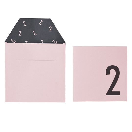 Design Letters Birthday Card - 2 - Pink Pink