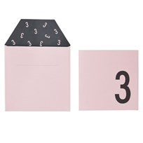 Design Letters Birthday Card - 3 - Pink Pink