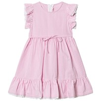 Il Gufo Light Pink Frill Sleeves Dress 356