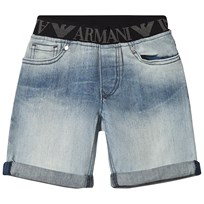 Armani Junior Blue Denim Shorts 1500