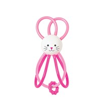 Manhattan Toy Zoo Winkel Rabbit Rattling Toy Pink