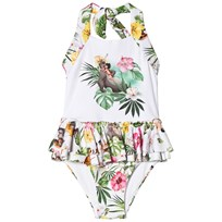 Monnalisa Jungle Book Halterneck Frill Swimsuit 9925