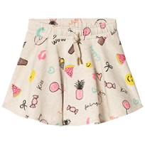 Soft Gallery Lena Skirt Cream Melange Fun Print Cream Melange AOP Fun