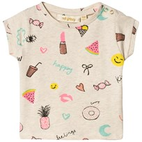 Soft Gallery Nelly Fun Print T-shirt Cream Melange Cream Melange AOP Fun